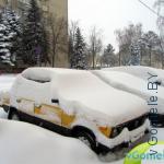 авто под снегом