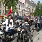 Тамара Адамовна на мотоцикле
