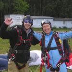 После первого прыжка, база Сборной Республики Беларусь по парашютному спорту,аэр