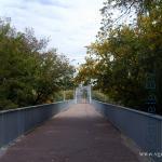 пешеходный мост через реку Сож