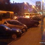 пробка в районе Гомельского облисполкома 4 ноября 2011 г.