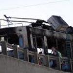 троллейбус сгорел