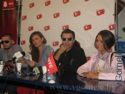 Пресс-конференция с группой «23:45» и певицей Нюшей в Гомеле