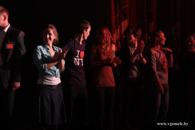 Публика на сцене